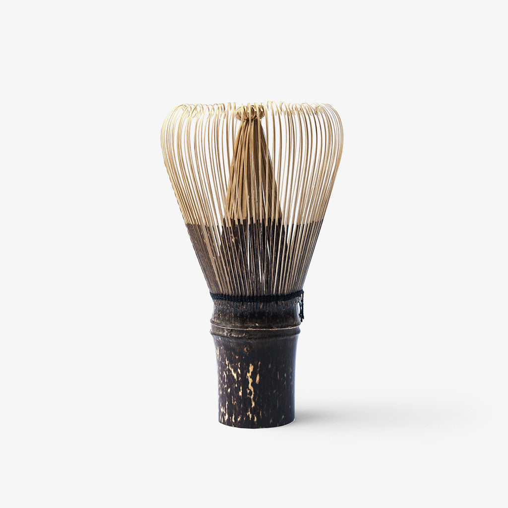 Handcrafted 120-prong fine black bamboo matcha whisk (Chasen)