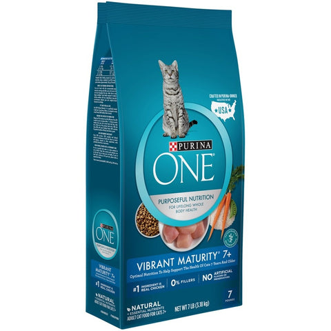 Purina ONE Vibrant Maturity 7+ Senior Formula Dry Cat Food