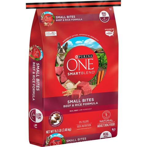 Purina ONE SmartBlend Small Bites Beef & Rice Dry Dog Food