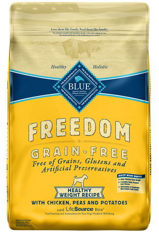 Blue Buffalo Freedom Adult Healthy Weight Chicken Recipe Dry Dog Food