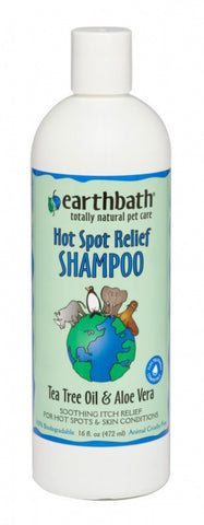 Earthbath Hot Spot relief Tea Tree and Aloe Shampoo for Dogs and Cats