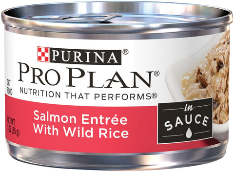 Purina Pro Plan Savor Adult Salmon Entree with Wild Rice Braised in Sauce Canned Cat Food