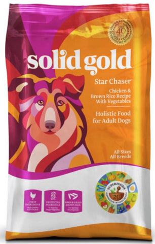 Solid Gold Star Chaser Chicken & Brown Rice with Vegetables Recipe Dry Dog Food
