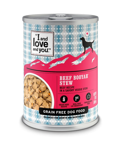 I and Love and You Grain Free Beef Booyah Stew Canned Dog Food