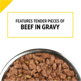 Purina Pro Plan Bright Mind Adult 7+ Beef and Brown Rice Entree Dog Food Tray