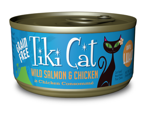 Tiki Cat Napili Luau Grain Free Wild Salmon and Chicken In Chicken Consomme Canned Cat Food