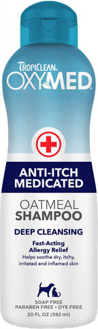 Tropiclean OXYMED Medicated Oatmeal Pet Shampoo