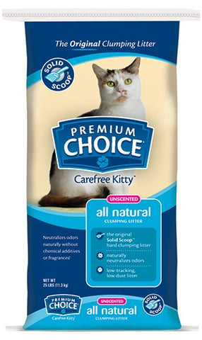 Premium Choice Unscented Solid Scoop Clumping Cat Litter