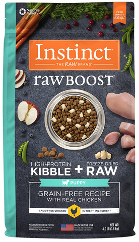 Instinct Raw Boost Puppy Grain Free Recipe with Real Chicken Natural Dry Dog Food