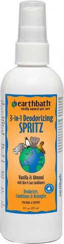 Earthbath 3-in-1 Deodorizing Vanilla and Almond Spritz for Dogs