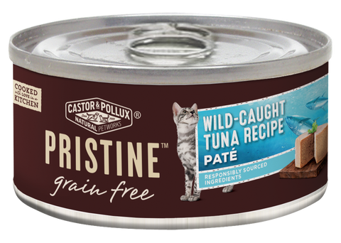 Castor and Pollux Pristine Grain Free Wild Caught Tuna Pate Canned Cat Food