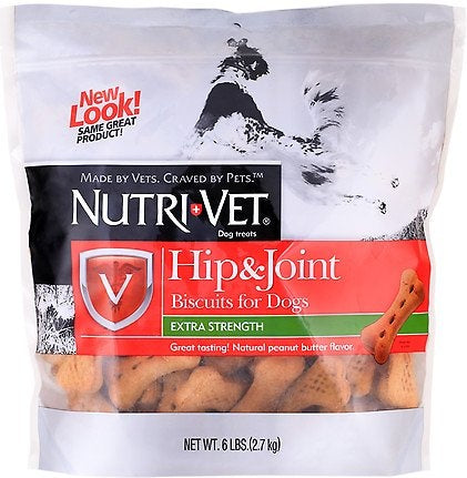 Nutri-Vet Large Dog Hip & Joint Peanut Butter Biscuit Dog Treats