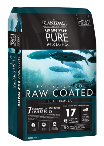Canidae PURE Ancestral Grain Free Fish Formula with Salmon, Mackerel, & Pacific Whiting Raw Coated Dry Dog Food