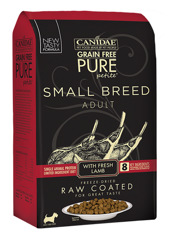 Canidae PURE Petite Small Breed Lamb Recipe Raw Coated Dry Dog Food