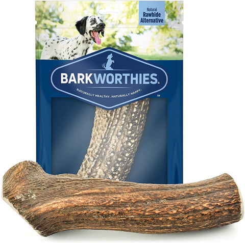 Barkworthies Whole Elk Antler Dog Chew for Extra Large Dogs