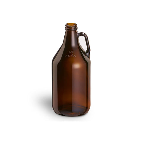 Amber Glass Jug, 1/2 Gal
