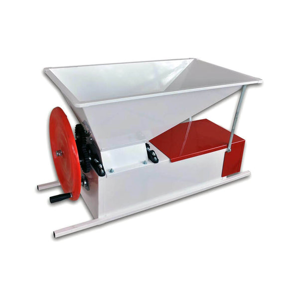 Manual Crusher Destemmer - Stainless Hopper