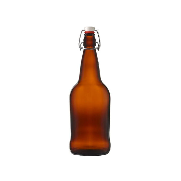 Amber EZ-Cap Bottle, 500 mL