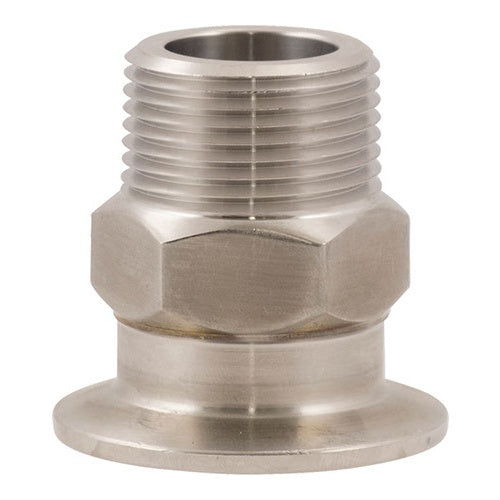 "Stainless - 1.5"" TC x 1"" MPT"