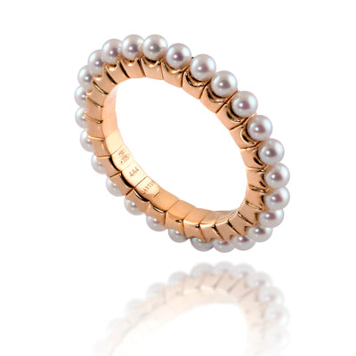 Stretchy Pearl Band Ring