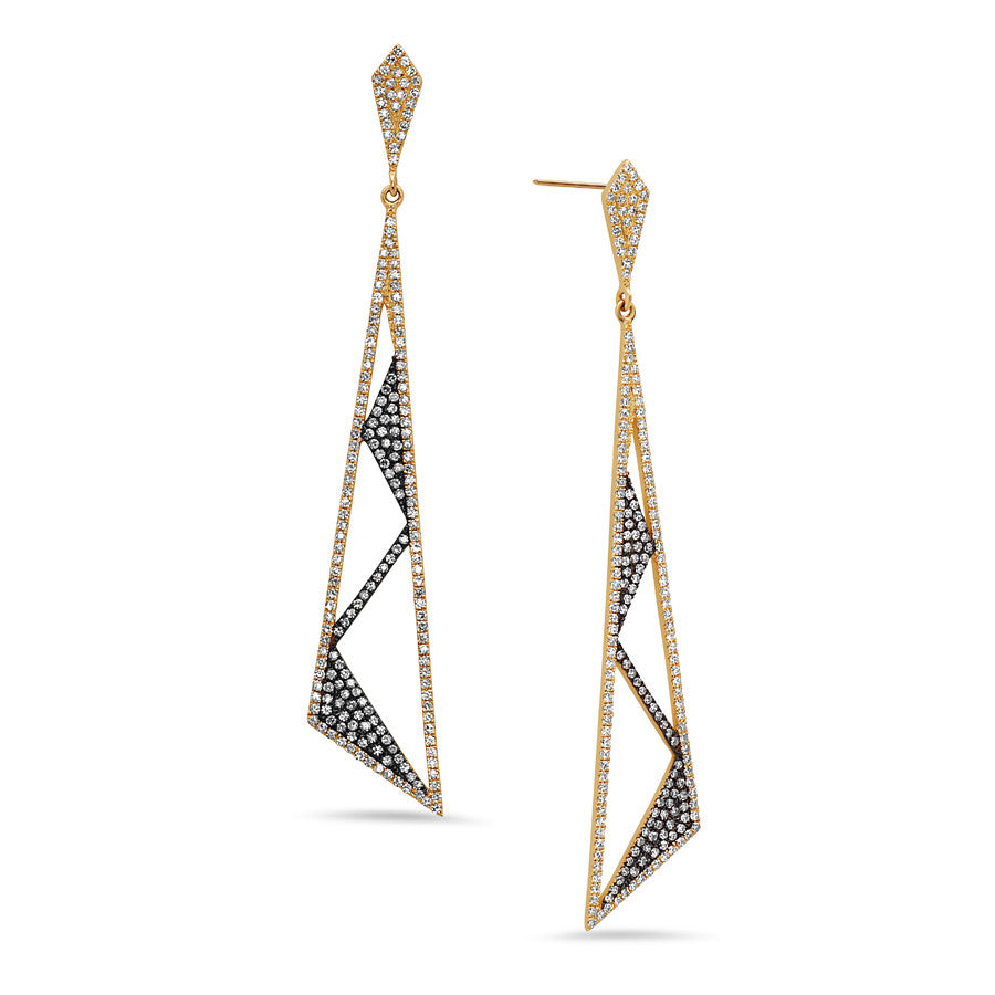 Zig Zag Drop Earrings