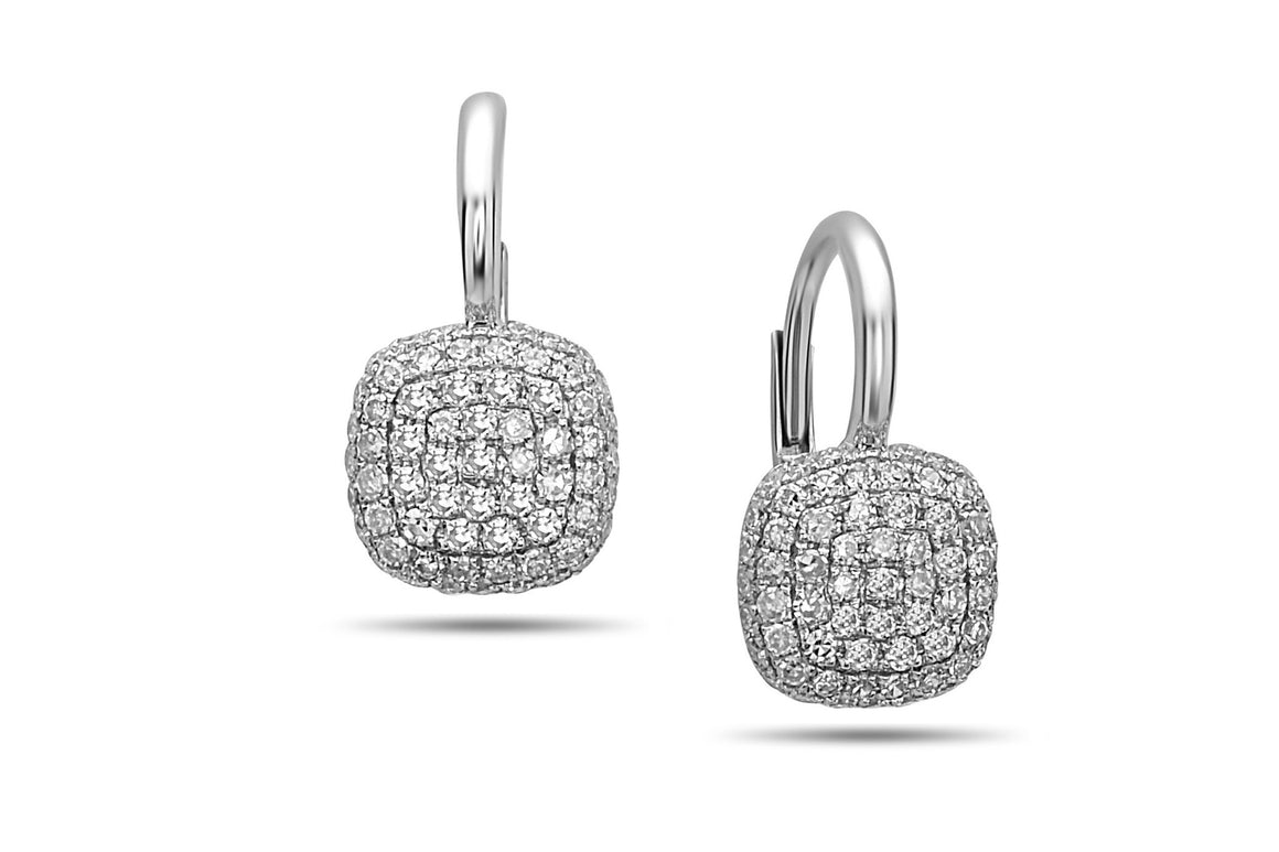 Pave Cushion Earrings