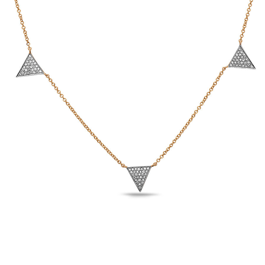 Zig Zag Triple Triangle Necklace
