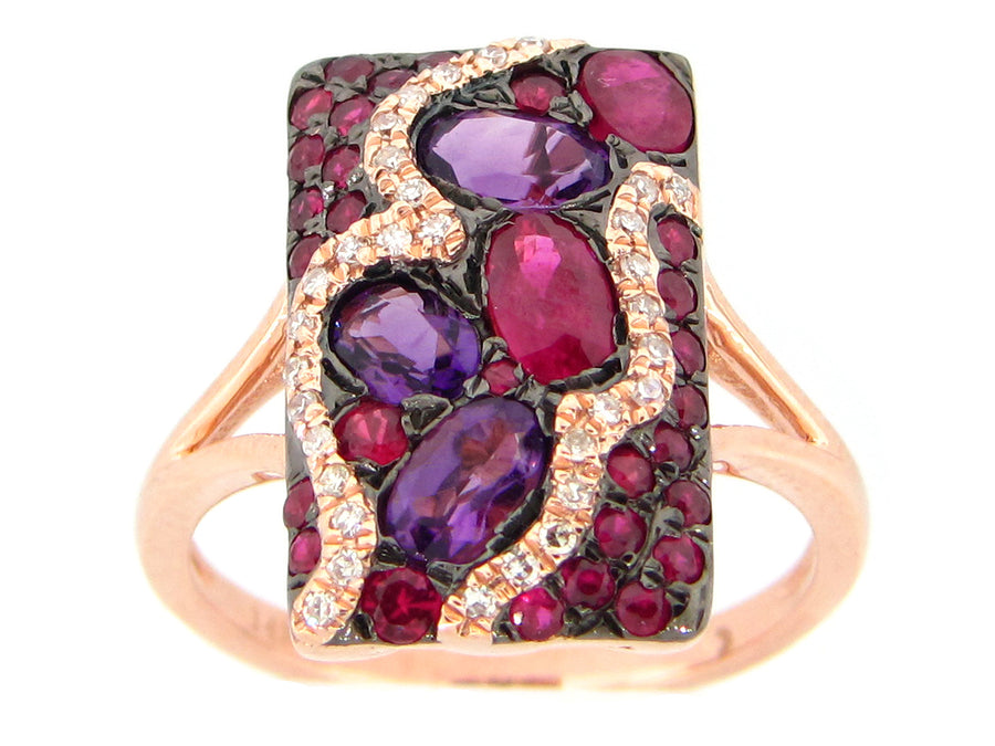 Mixed Shape Flat Rectangular Ring