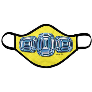 Blue Diamond Yellow Fashion Mask