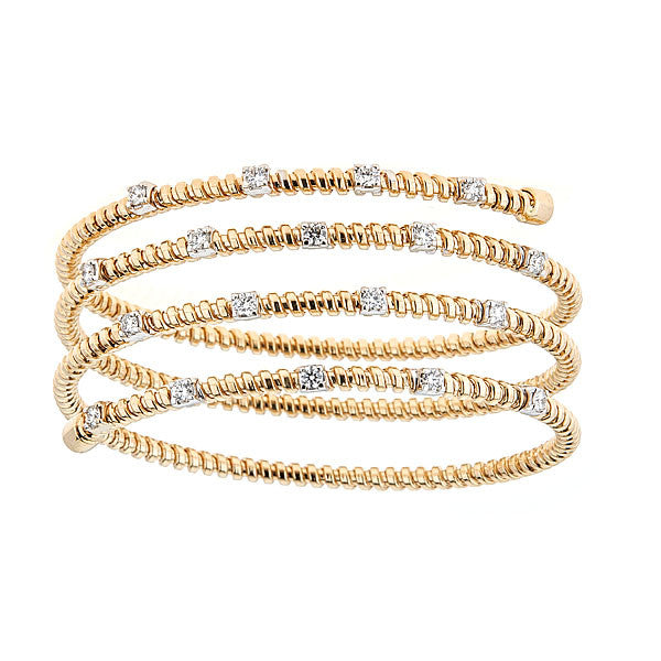 Slinky Flexible Wrap Bracelet Quadruple