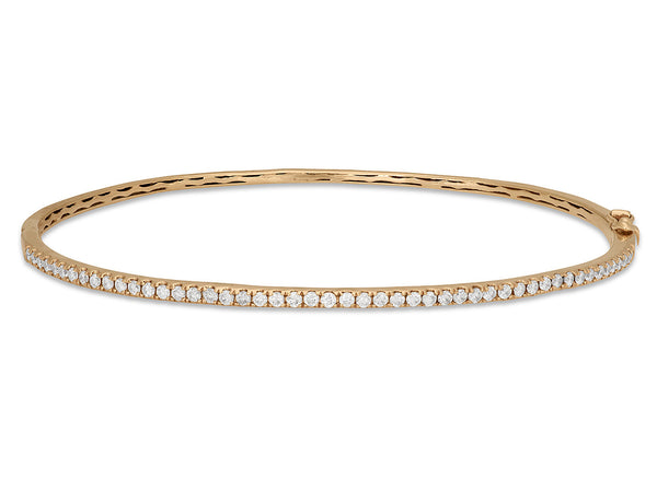 Thin Oval Stacking Bangle