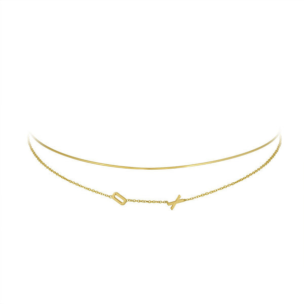 Double Mini Letter Choker
