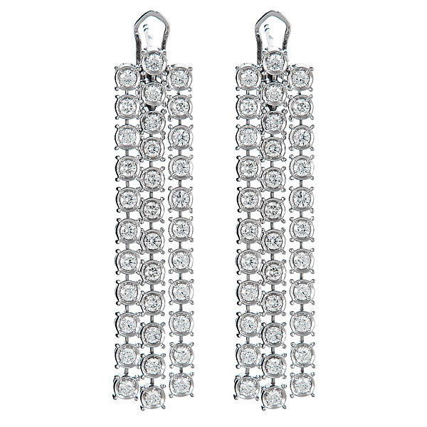 Bezel Triple Drop Earrings