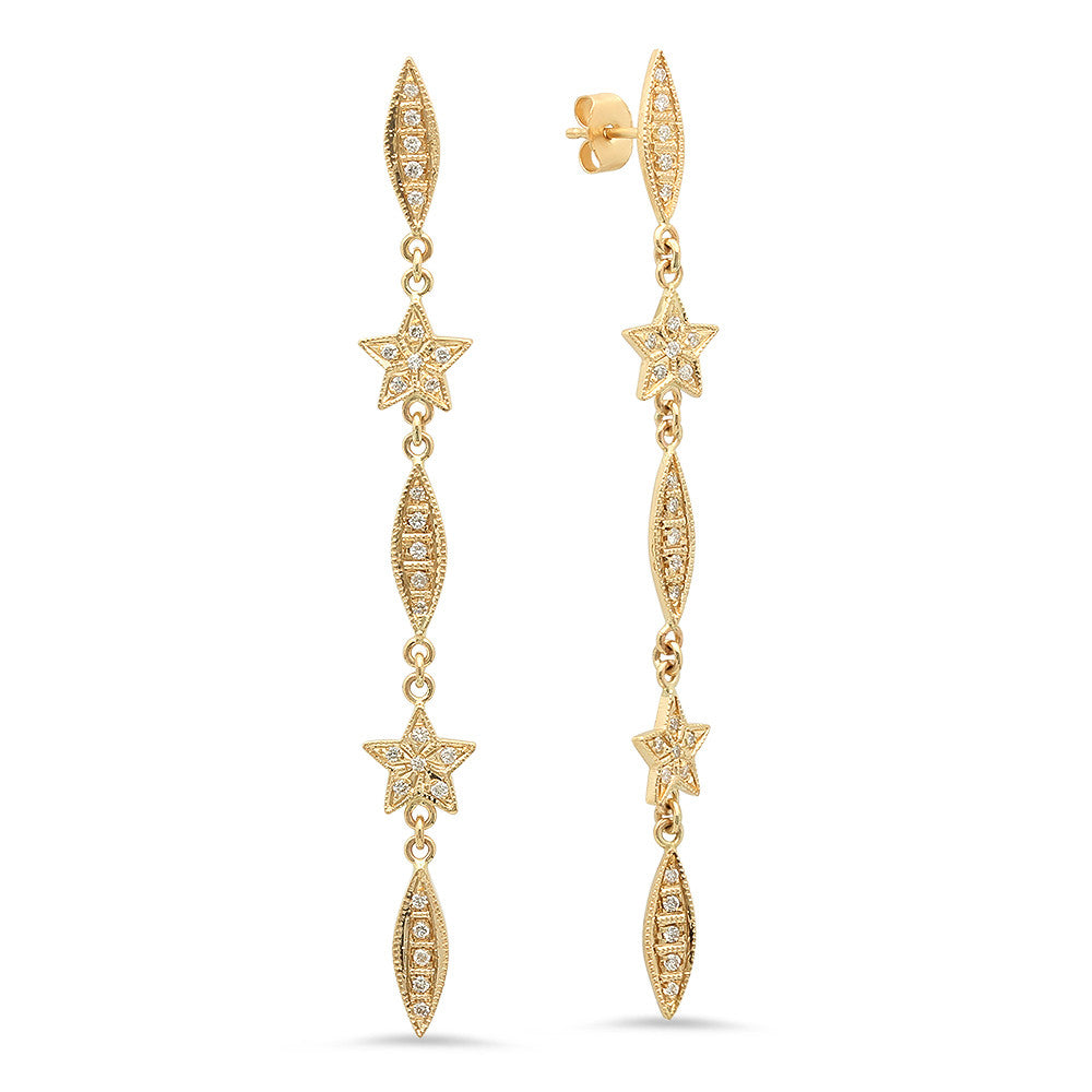 Elegant and Chic Diamond Earrings