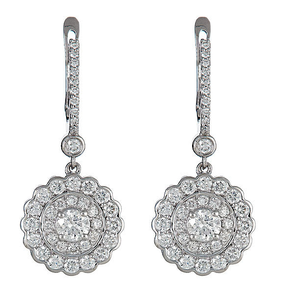 Disc Single Drop Earrings