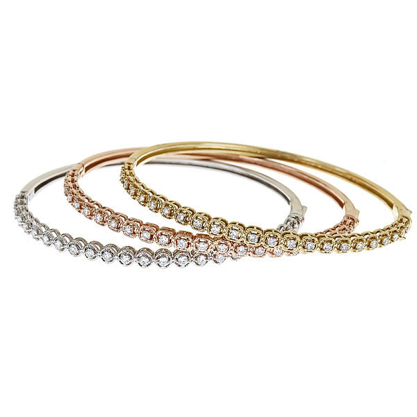 Oval Line Bangle Large