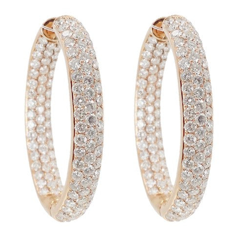 Wide Diamond Hoops