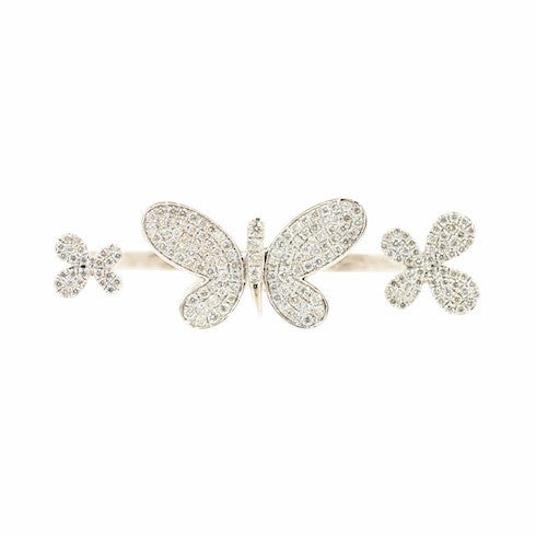 Double Finger Butterfly Ring