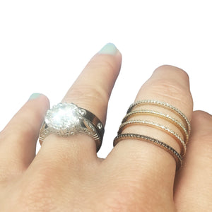 Dainty Diamond Bands
