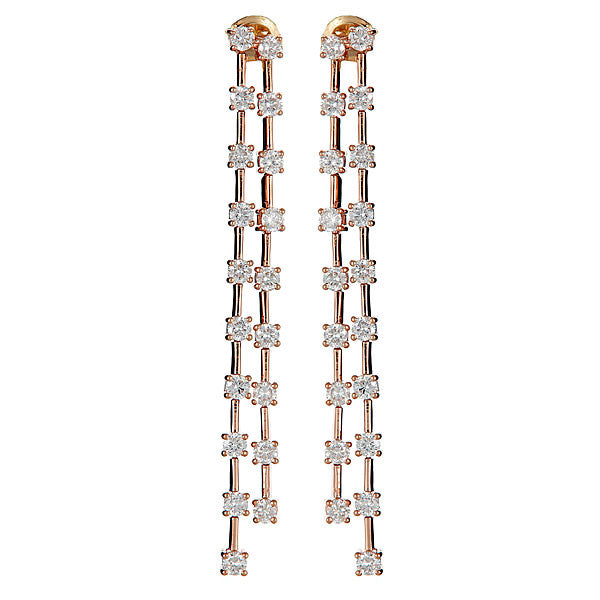 Icicle Long Double Drop Earrings