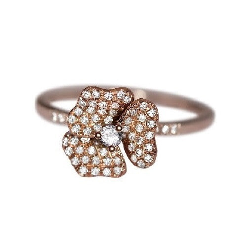 Mini Pave Flower Ring
