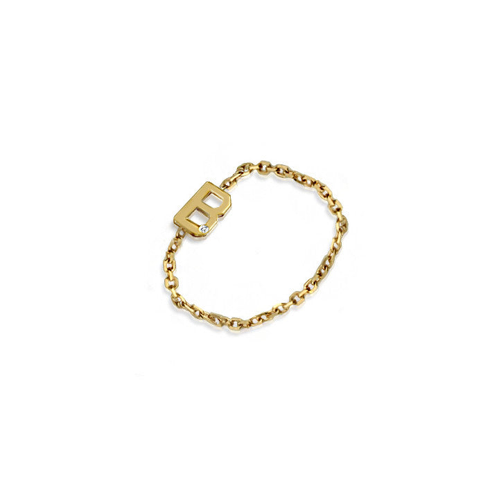 Mini Letter Chain Ring