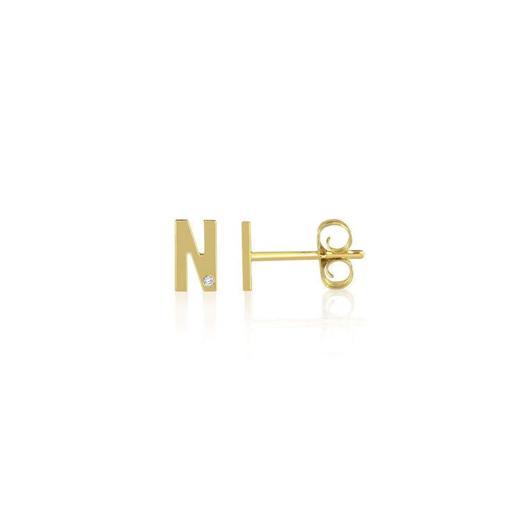 crystal g shiny earrings item letter plated female color initials stud silver qusfy gold for