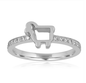 Mini Pave Ring White