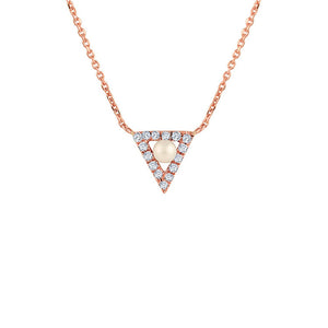 Mini Triangle with Pearl Necklace