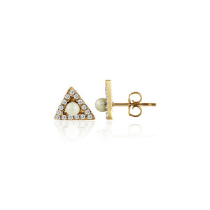 Mini Triangle with Pearl Studs