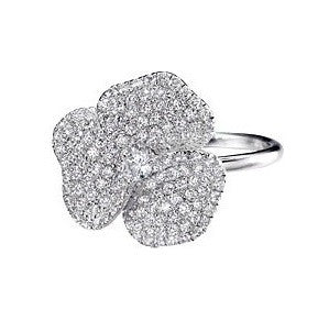 XL Pave Flower Ring
