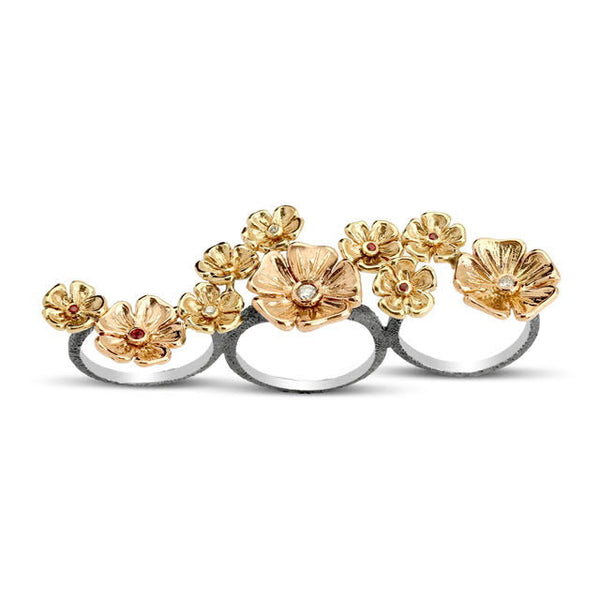 Primrose Path Multifinger Ring