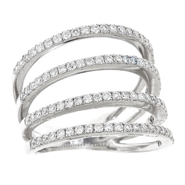 Four Row Band Ring