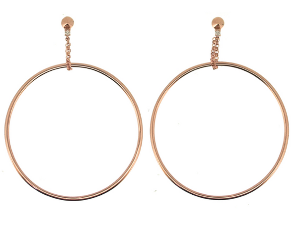 Open Suspended Hoop Earrings